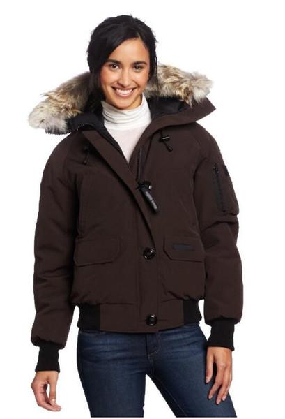 Parka en duvet d'hiver pour femmes en plein air Canada Épaississement chaud Ski montagne froide coupe-vent coupe courte Lady Goose Down Jacket