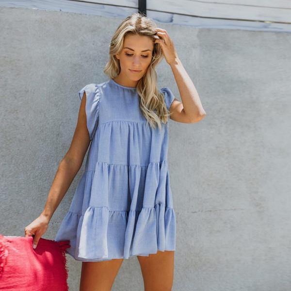 Ropa de mujer Ropa casual y cómoda para mujer S Vestidos de fiesta Tamaño grande Moda Color sólido Pastel Falda Diseñador Vestido
