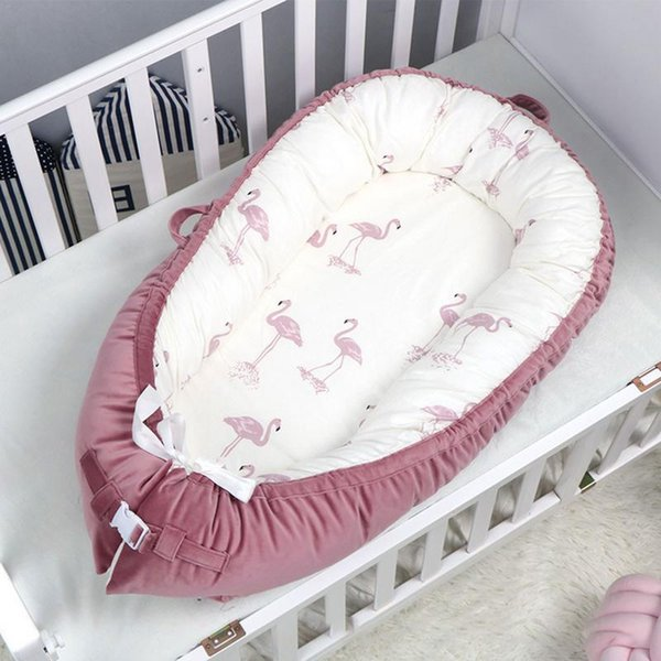 New Portable Baby Nest Bed Baby Crib Infant Toddler Cradle Cot for Newborn Nursery Travel Folding Sleeping Nest Bed
