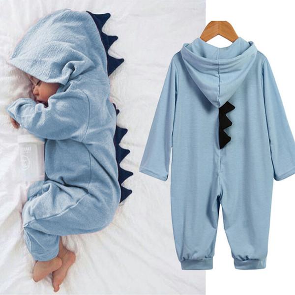 Bebek Dinozor Tulumlar Ins çocuk Sıcak Tarzı 0-1 Yaşındaki Bebek Tırmanma Cadılar Bayramı Tırmanma Kostüm Suits