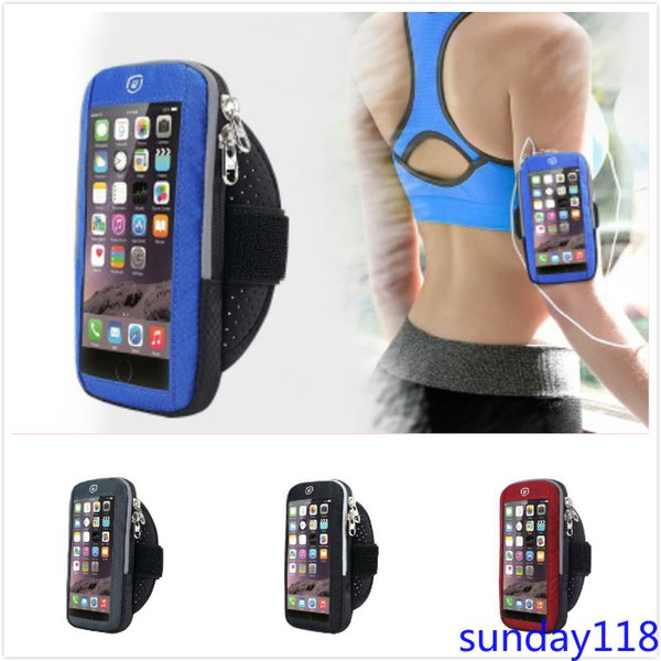 Original Sports Arm Bag Running Touch Screen Mobile Phone Arm Bag Outdoor Fitness Waterproof Arm Bag Sports Equipment Unisex