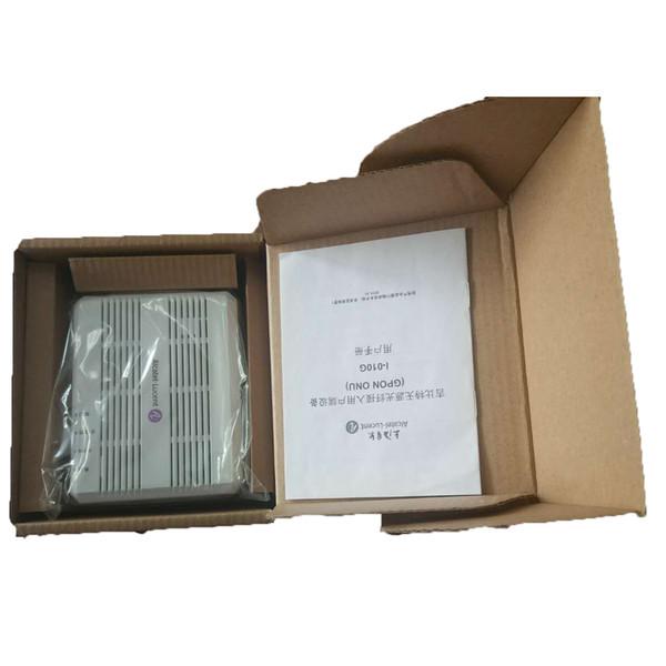 Original Alcatel Lucent Bell GPON ONU I-010G with 1 GE ethernet port, SC/UPC input, english vesion