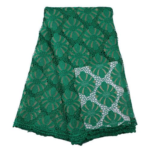 H140 ,green Good Looking African Guipure Lace Fabric,free Shipping Embroidered Cord Lace Fabric For Women Dress!