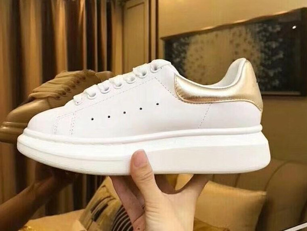Yeni Sezon Tasarımcı Ayakkabı Moda Lüks Kadın Ayakkabı Erkekler S Deri Dantel Up Platformu Boy Sole Sneakers Beyaz Siyah Rahat Xrx190409102