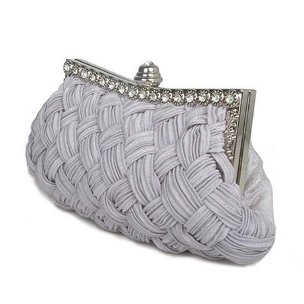Fashion Casual Diamond Women Evening Bag Weave Female Hand Bag Hard Versatile Handbag For Dinner Green Ring Bag