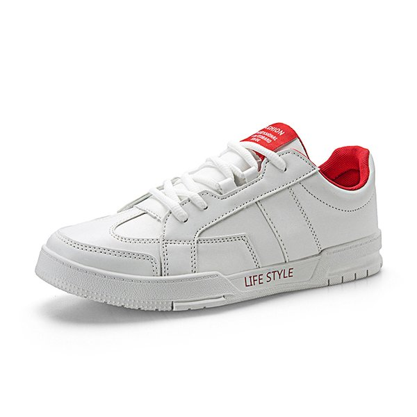 New Style Latest 1990s Young Fashion Trends Spring Best White Casual Shoes for Men Fashion Low Heel Leather Bresthable Leisure Shoes