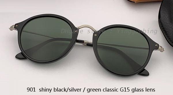 901 shiiny black silver/green classicG15