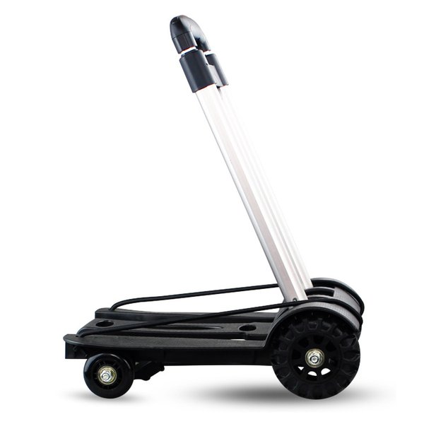 Foreign trade exports aluminum tube four-wheel trolley folding luggage cart will hand in hand to pull the car home shopping cart cart