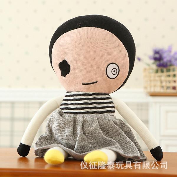 ragazzo fortunato domenica Alta qualità Cute Knitting lana giocattoli di peluche Baby Sleep Doll calmare giocattoli Bambino compleanno regalo di Natale