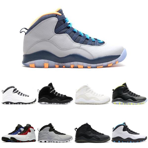10 Баскетбольные кроссовки 10 с Я вернулся крутой серый инфракрасный фьюжн красный яд Порошок Синие мужские спортивные кроссовки