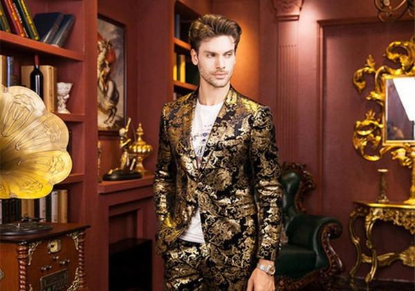 7XL способа горячий Mens Штамповка костюма Mens Верхняя одежда С одной кнопки Mens смокинг Женихи костюмы Мужской одежды