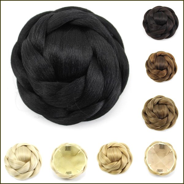 Synthetic Hair Braided Chignon Knitted Hair Bun Donut Roller Hairpieces Hairpiece Accessories for Women
