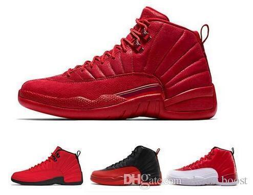 Best Quality 12 12s White Gym Red Michigan Dark Grey Mens Basketball Shoes Taxi Blue Suede Flu Game Cny Sneakers