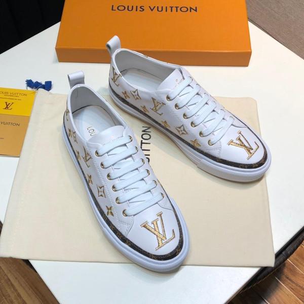 2019 calçados casuais novos homens brancos, calçados esportivos masculinos da moda, sapatos baixos dos homens de alta qualidade, embalagem caixa original