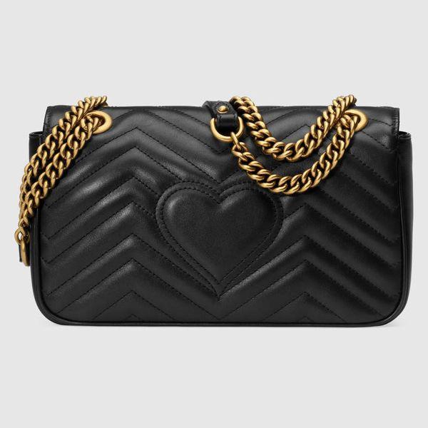 Hot Sale Fashion Women Shoulder Bags Classic Leather Heart Style Gold Chain New Women Bag Handbag Tote Bags Messenger Handbags