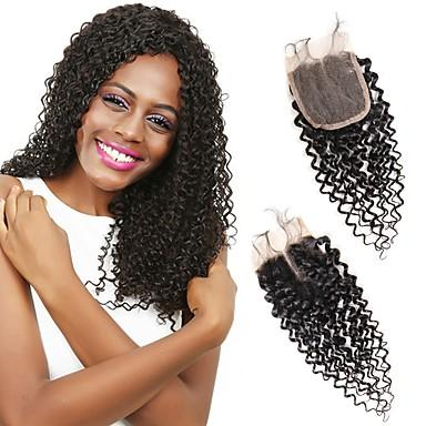 Wholesale 100% Real Human hair 10A Deep Wave 4*4 lace closure Selling directly from Factory With Best Quality No Tangle No Shedding