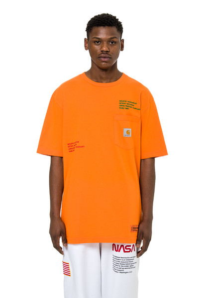 234800272 Heron preston 19ss HP X CARHARTT WIP Short sleeve t-shirt Mens black Tee XS