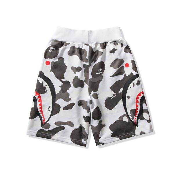 2019 neue sommer männer frauen weiß camo leuchtende druck strand hosen teenager hip hop camo casual shorts