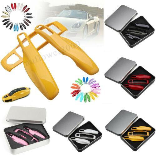 3PCs Car chiave a distanza di caso chiave Shell coperture per Porsche Panamera Carman Macann Bobst Cayenne 911 970 981 991 92A Accessori auto