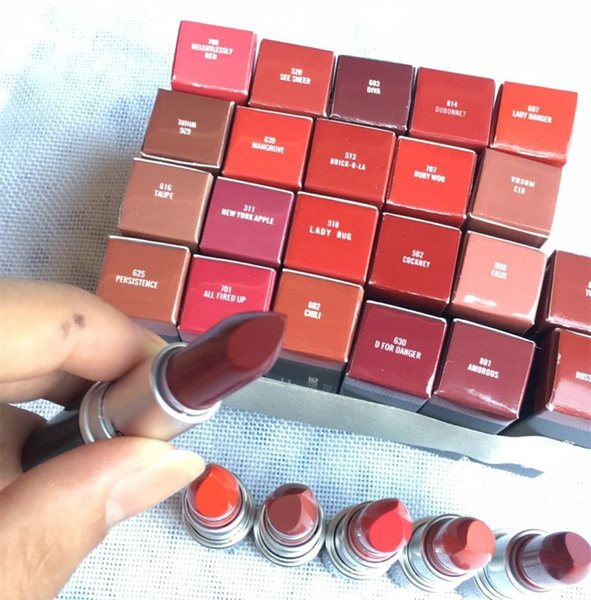top popular Top Quality Aluminum Tube Matte Lipstick Rouge A levres Marrakesh twig amorous faux whril taupe New York Apple CHILI Tropic Tonic DABGER 2020