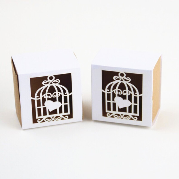 White Favor Boxes Wedding Candy Nice Gift Box Good Marriage Little Paper Treat Bag for Friends