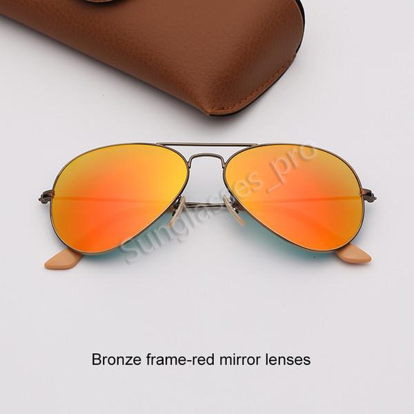 Bronz çerçeve-kırmızı ayna lensleri