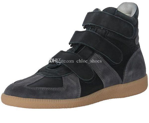 MMM High top moda hombre zapatillas de deporte del gancho botines de cuero de gamuza nuevo 2017 Gentmen zapatos casuales tamaño 46