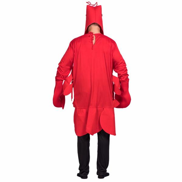 halloween men Eraspooky Halloween Men Christmas Cosplay Red Lobster Adult Costume For Party Loose Animal Cosplay Pyjama