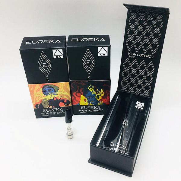 EUREKA Ceramic Vape Cartridges High Potency Glass Tanks Atomizer Vape pen 2.0mm*4 Empty Disposable 0.8ML 1ML Empty 510 Vaporizers Packaging
