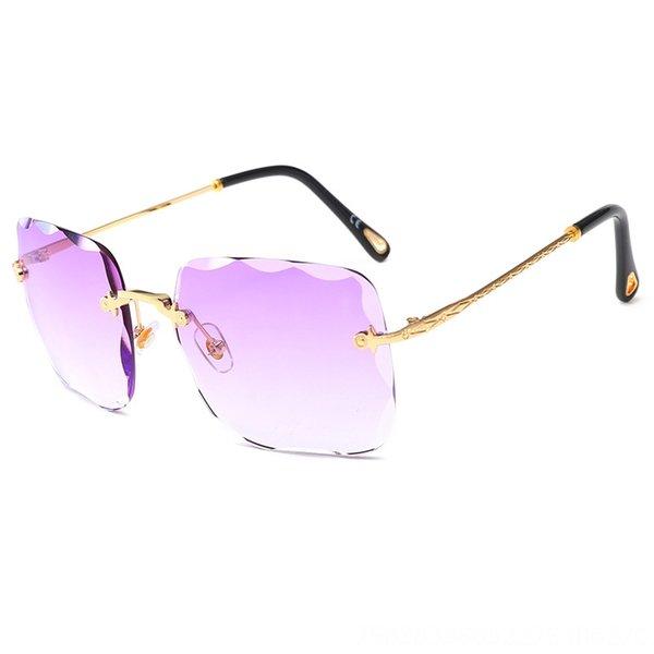 Gold Frame Light Purple Slice