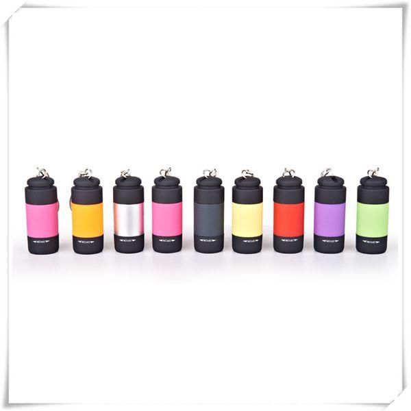 Outdoors Mini Flashlights Led Flashlight USB Torch Rechargeable Colorful LED Flashlight High Powered Keychain Lamp Key Chain Flashlights