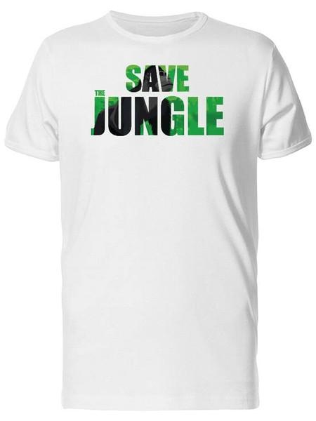 Сохранить Джунгли и гориллы мужская футболка - изображение