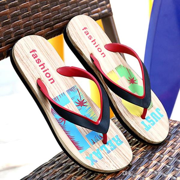 good QUALITY Designer Rubber Non-slip sandals slippers for men Designer flower printed beach flip flops slipper summer Hawaii Beach slippers