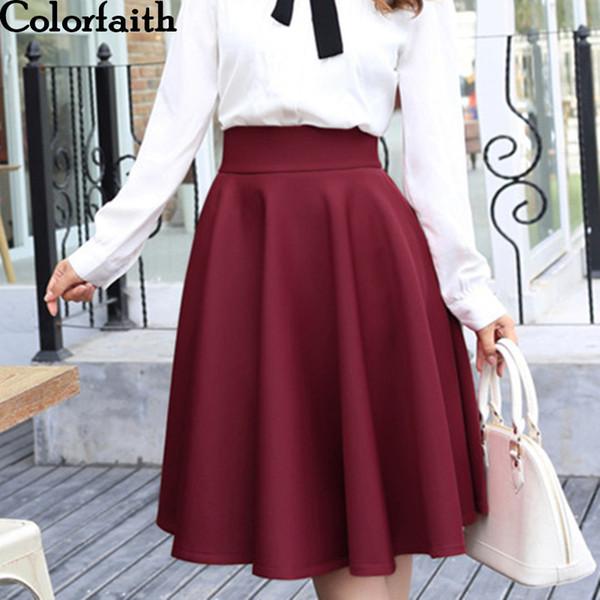2016 New Fashion Women Cotton Space Knee-length Big Swing Umbrella Skirt High Waist Vintage Ladies Midi Saia Skater Skirt 7340 Y190411