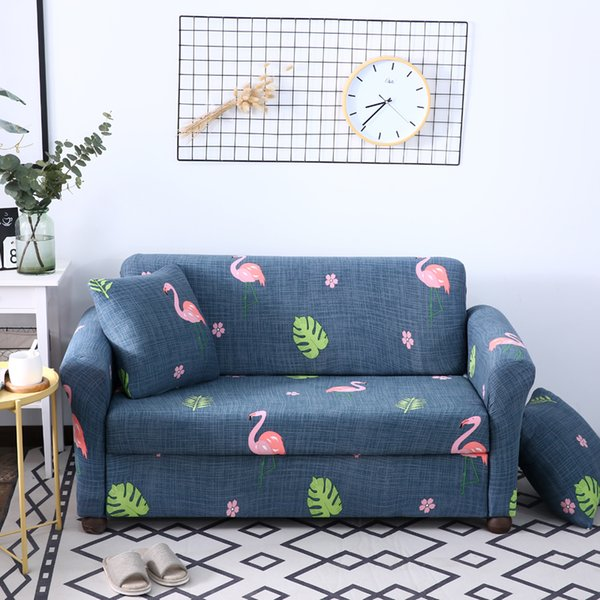 Terrific Idouillet Flower Flamingo Print Stretch Spandex Sofa Cover Couch Slipcover For Chair Loveseat 3 Or 4 Seat Sofa Throw Pillow Case Linen Rentals Sofa Machost Co Dining Chair Design Ideas Machostcouk