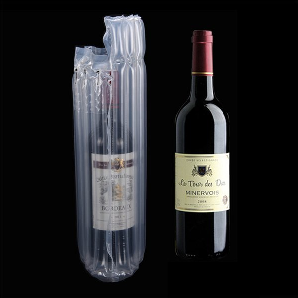 Wine Bottle Protector Gas Column Wrap Bags Sleeves Glass Travel Transport Air filled Column Leakproof Cushioning Air Dunnage Bag