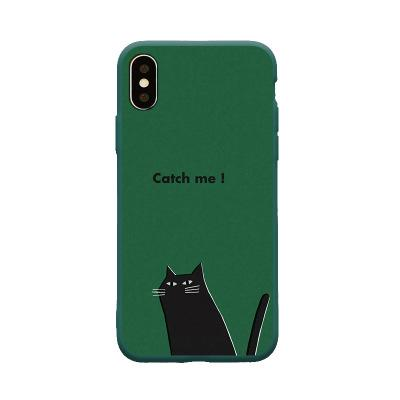 Black cat Pattern Crashproof Soft Back Cover TPU Cell Phone Cases Protective Covers Phone Accessories For iPhone X XR XS MAX 6 6S 7 8 PLUS