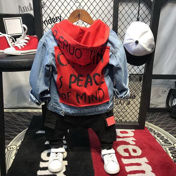 2018 crianças terno algodão bebê Cowboy hoodies + t-shirts + calças 3 pcs conjunto de roupas de outono inverno bebê meninos crianças roupas