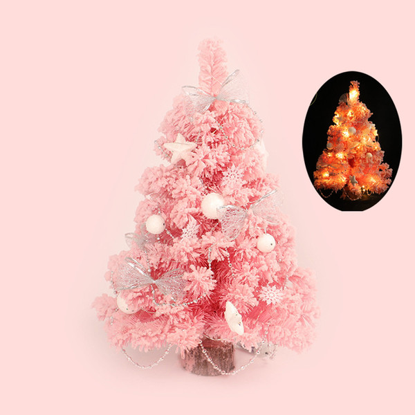 Pink Christmas Ornaments.Cute Pink Christmas Tree Led Creative Artificial Glowing Christmas Treee Holiday Indoor Xmas Home Tabletop Decor Home 8 Christmas Ornaments Shop