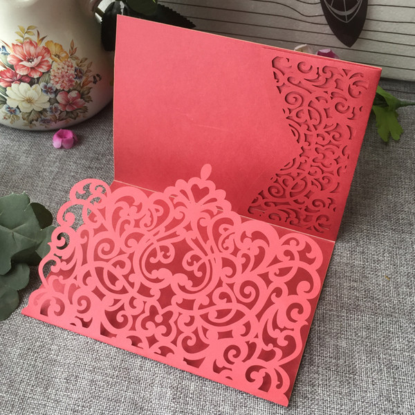 35PCS /lot Luxury Envelope Wedding Invitation Cards Exquisite Crown Design Supply To Anniversary Birthday Grand Festival Ceremony Invitation