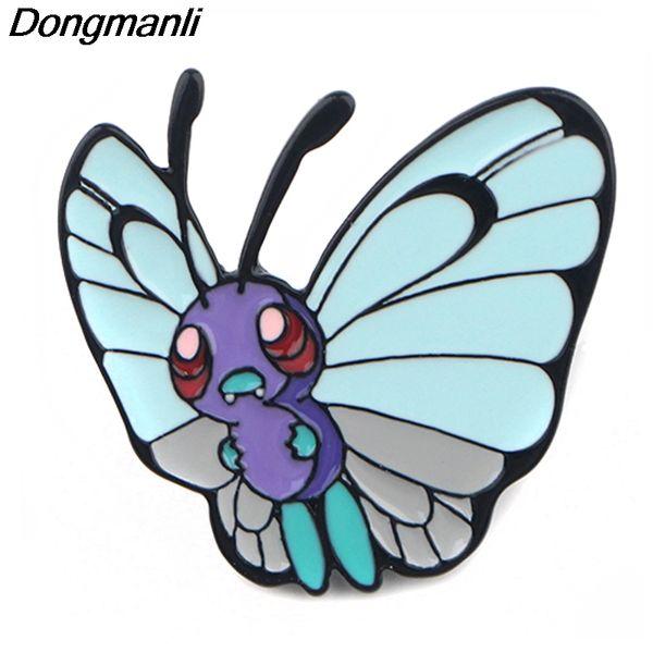 P3938 Atacado 20pcs / lot Anime jóias bonito da borboleta de metal esmalte Pinos e Broches para lapela Backpack Bolsas Presentes Emblema