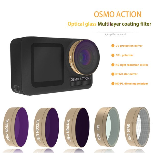 DJI accessories GOLD UV CPL ND4 ND8 ND16 ND32 STAR Glass lens filter for DJI OSMO ACTION Camera