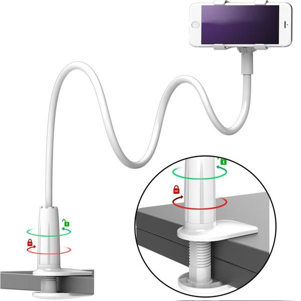 New Universal Flexible Holder Arm Lazy Mobile Phone Gooseneck Stand Holder Stents Flexible Bed Desk Table Clip Bracket for Mobile Cell Phone