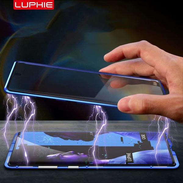 Atacado Alumínio Bumper frente Traseira de Vidro Capa de Telefone de luxo case para samsung galaxy note 10 + note10 bumper case