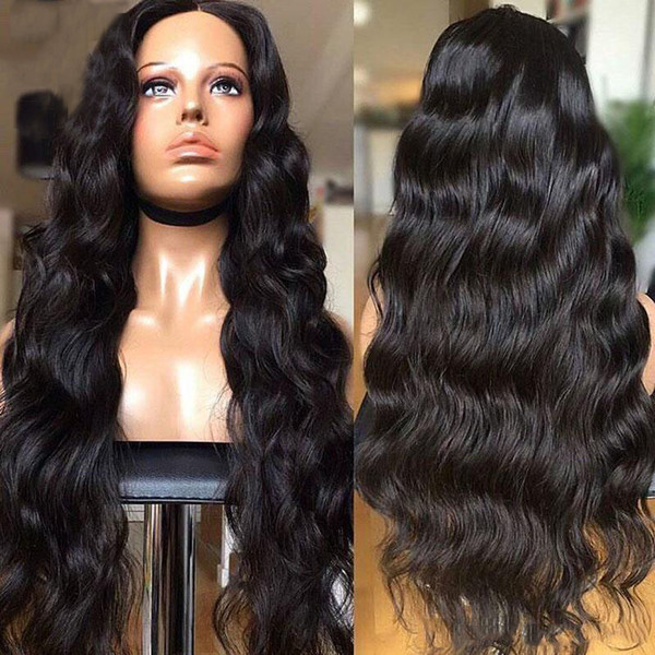 Human Hair Wigs Brazilian Body Wave U Part Wig Remy Hair 150 Density Hair Weave Wig Medium Cap Machine Made 2 x 4 Part