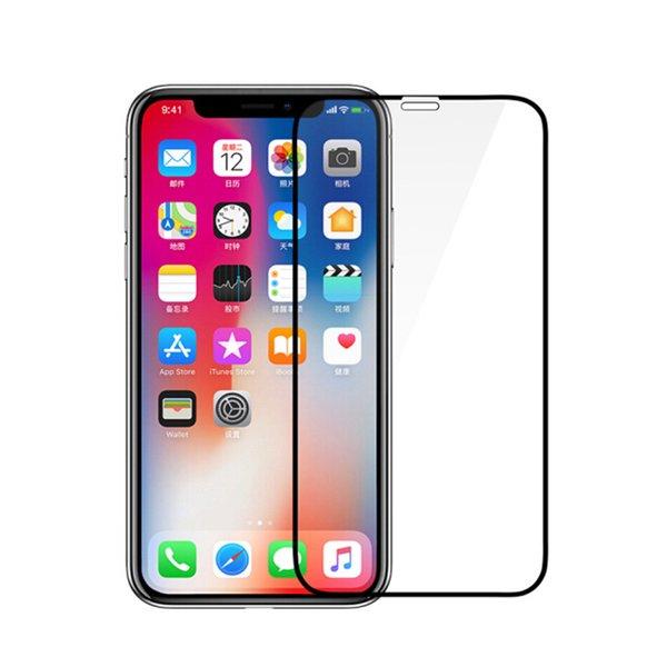 Liga de titânio 3d curvo borda tampa completa coque de vidro temperado para iphone xs 10xs max x 8 6 6 s 7