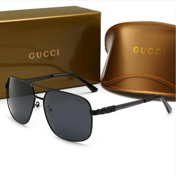 Lüks erkek Güneş Gözlüğü Tasarımcı Sıcak Moda Stil Sunglass Erkekler için Marka Yaz Kadın Cam UV400 Kutusu ve Logosu ile Çok Y ...