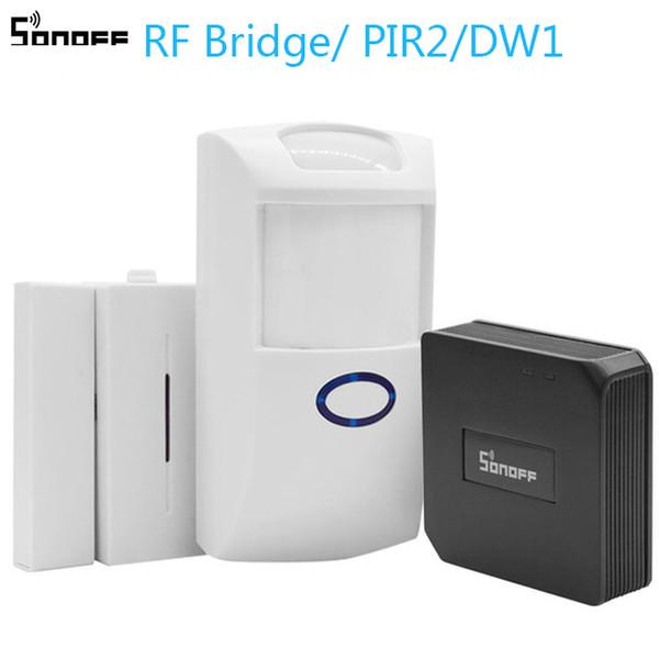 Sonoff RF Bridge/PIR 2 Sensor/ DW1 Door & Window Alarm Sensor Wifi Wireless Signal Converter for Smart Home Security Kits