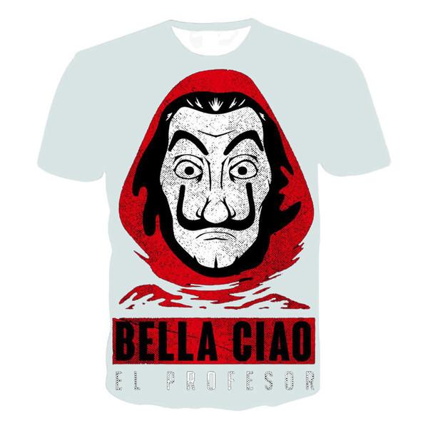 Homens mulheres T-shirt La Casa De Papel T Camisa Dinheiro Assaltante Tees Série TV Manga Curta T-shirts Homem Casa de Papel Camiseta Homme