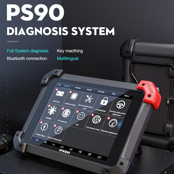 100% Original XTOOL PS90 Car Diagnóstico Ferramenta Sistema Lifetime Código Online Atualização Leitor programador chave Same Como EZ500 EZ400 Pro